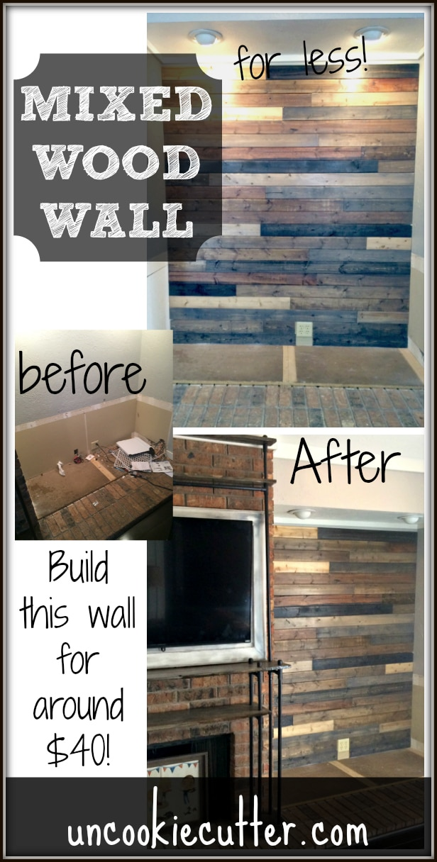 Mixed Wood Wall Easy Amp Cheap Diy Uncookie Cutter