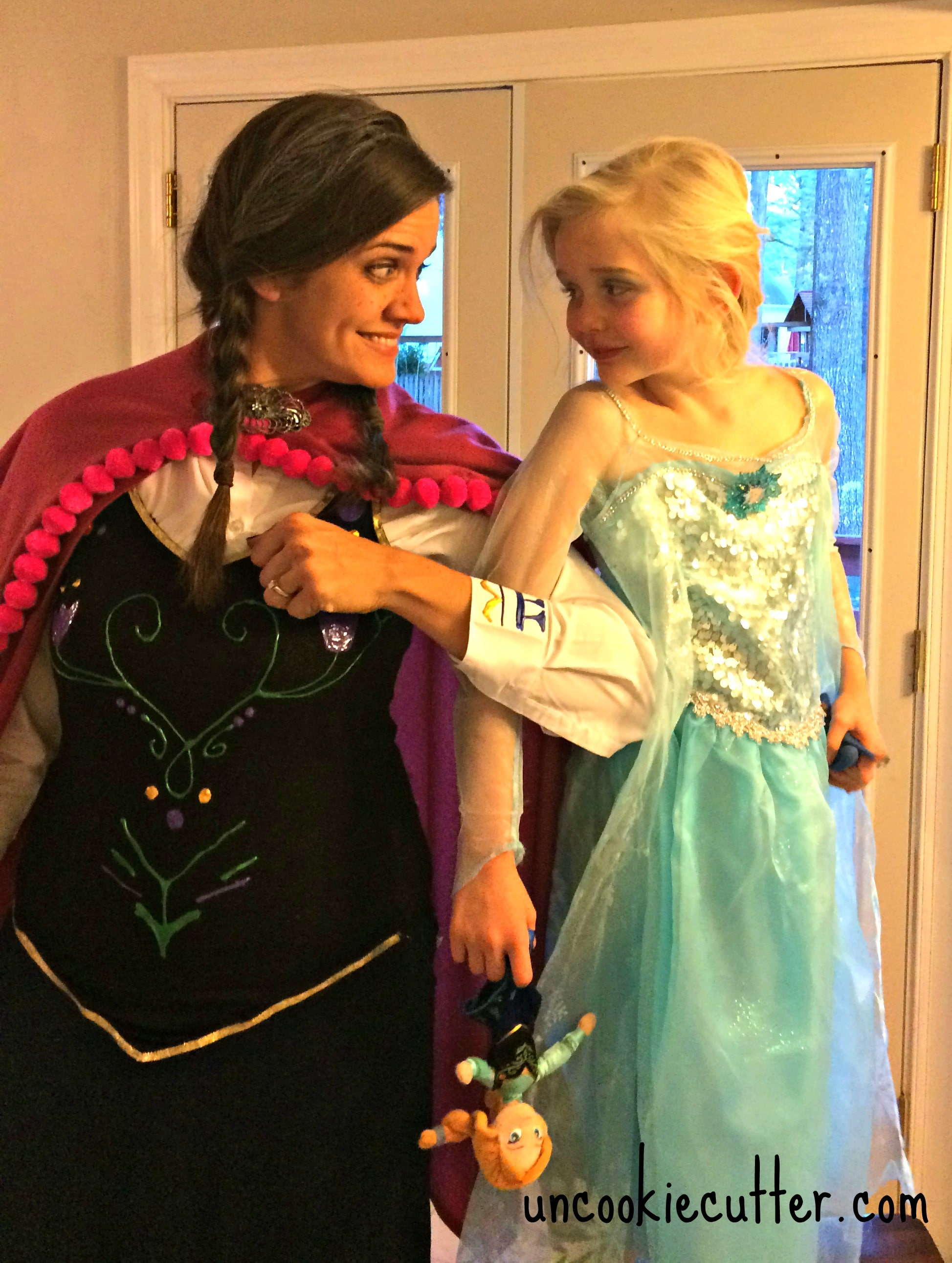 Easy, Cheap and No Sew DIY Anna Frozen Costume - UncookieCutter.com