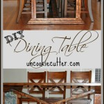DIY Farmhouse Dining Table with removable top and stain tutorial!