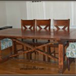 Dining Table with a Removable Top & Stain Tutorial