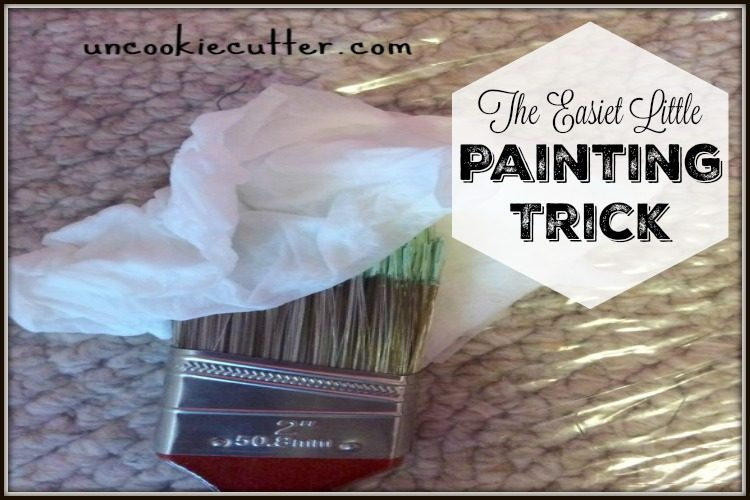 The easiest little painting trick to save you time when painting - UncookieCutter.com