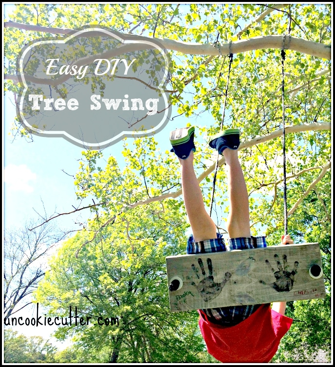 Easy DIY Tree Swing - UncookieCutter.com