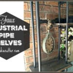 DIY Faux Industrial Shelves