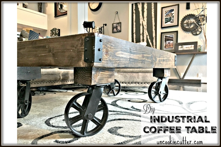 Industrial Coffee Table DIY - UncookieCutter.com