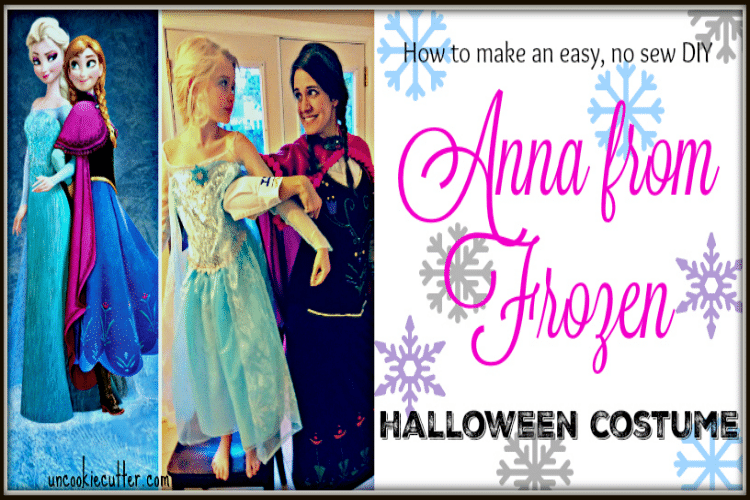No Sew Adult Anna Frozen Costume for Cheap!