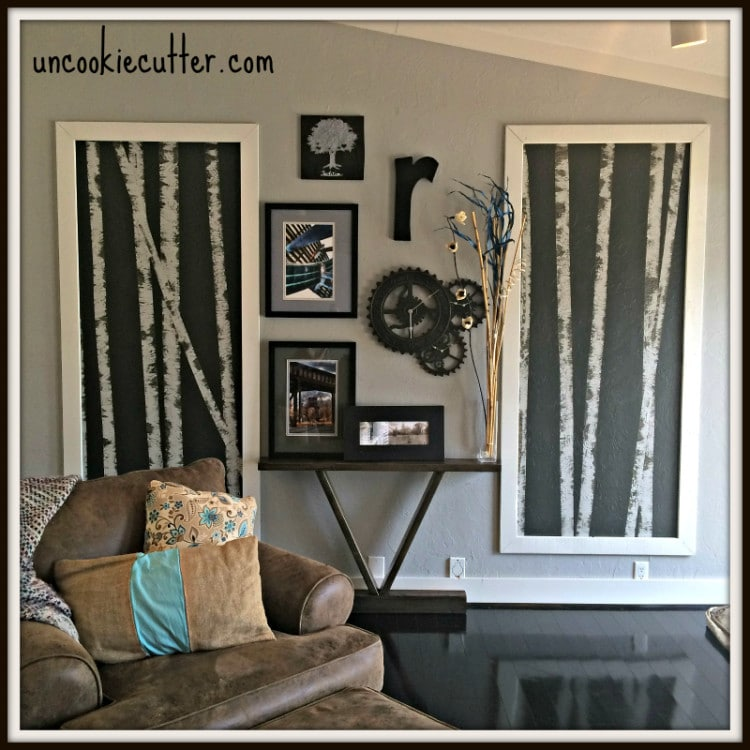 Birch Tree Paintings and DIY Gallery Wall - Uncookiecutter.com
