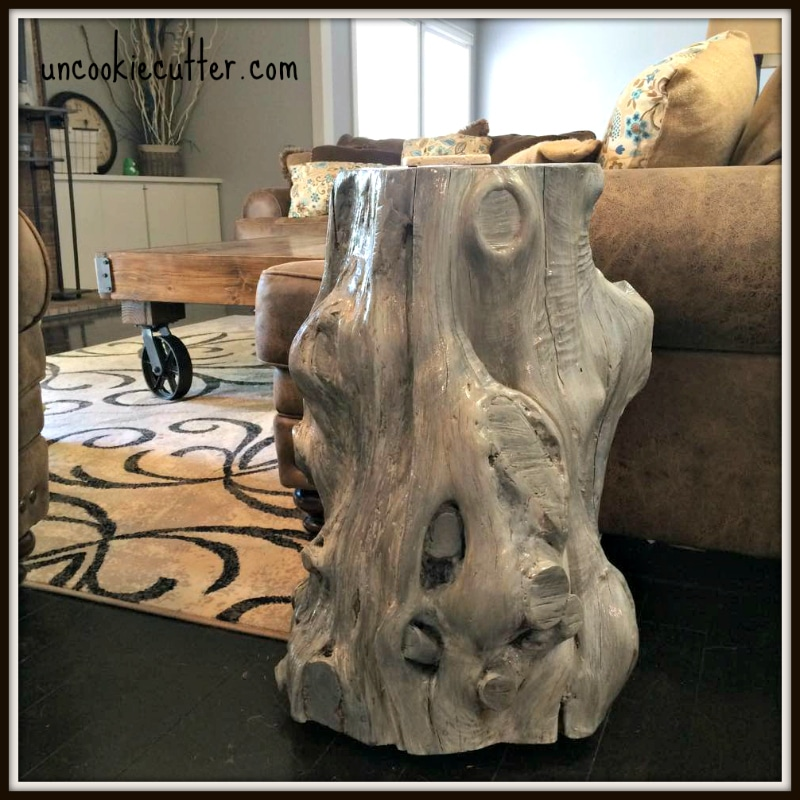 Elegant Tree Stump End Table   Uncookiecutter.com