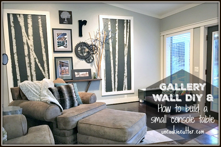 Gallery Wall & How to Build a Small Console Table