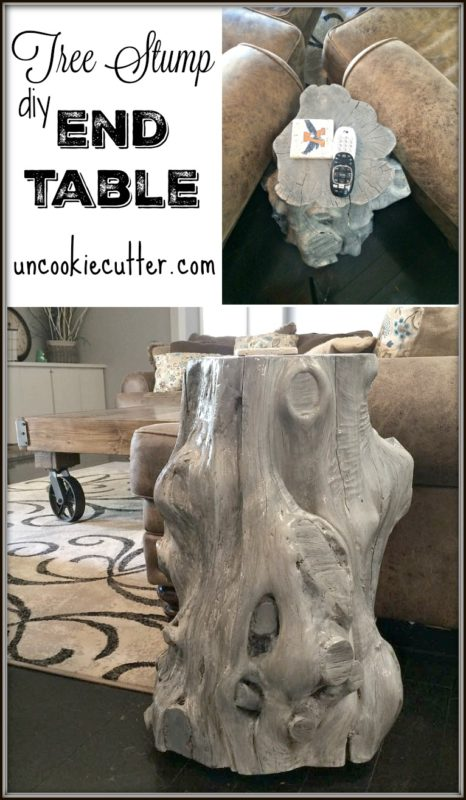 tree stump end table end table 2 uncookie cutter. Black Bedroom Furniture Sets. Home Design Ideas