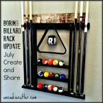 DIY Pool Rack makeover for your billiard cues, triangles and other accessories! Update your man cave or game rooms!