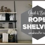 Rope Shelves – A Quick and Easy DIY
