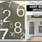 Dart Board Upcycle Inspired by Pottery Barn Art