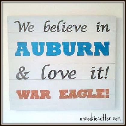 College Football Wooden Spirit Sign - Uncookiecutter.com