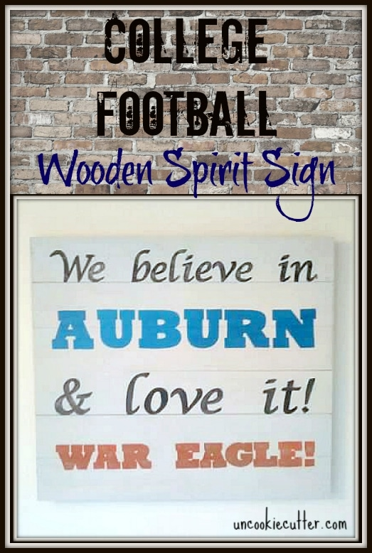 Easy DIY College Football wall art - UncookieCutter.com