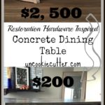 I'll walk you through, step by step, of my DIY concrete dining table that is the perfect dining room decor. From contemporary to farmhouse, this design fits all.