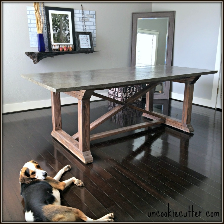 Concrete Dining Table DIY For Less Uncookie Cutter - Concrete dining room table