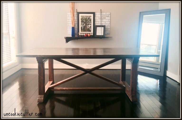 Concrete Dining Table - DIY for less - Uncookie Cutter