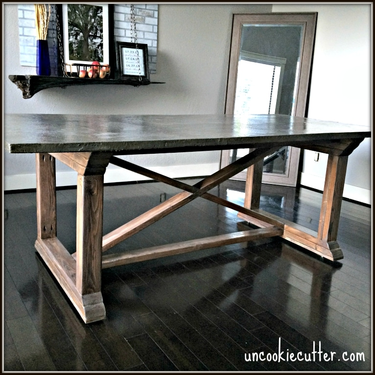 Stop By To Get All The Details On How I Made This Concrete Dining Table,