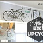 Antique Bike UpCycle and Industrial Bike Holder