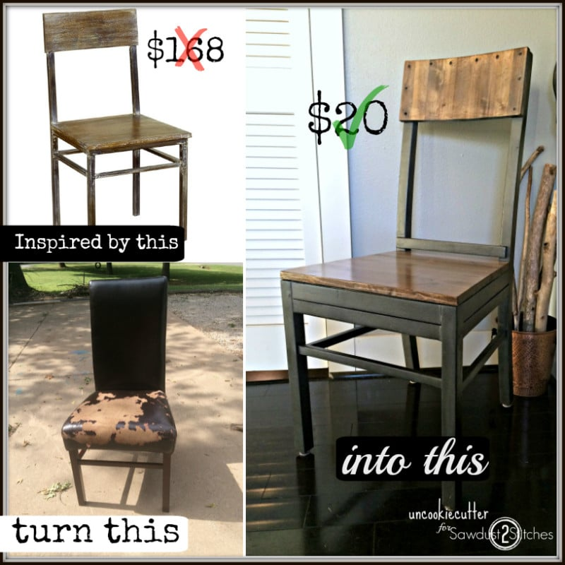 Modern Dining Chair Upcycle - Uncookie Cutter
