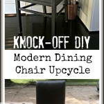 My DIY wooden dining chair modern makeover. Get a contemporary before and after with a little paint and elbow grease.