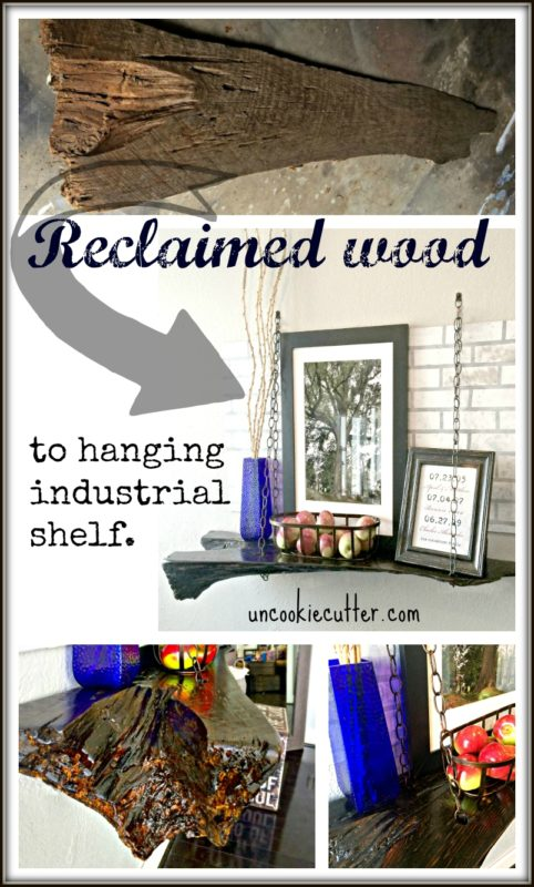 Rustic Industrial Hanging Shelf - UncookiCutter 19