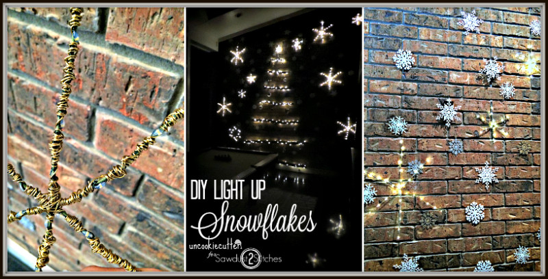 DIY Light Up Winter Wonderland Wall