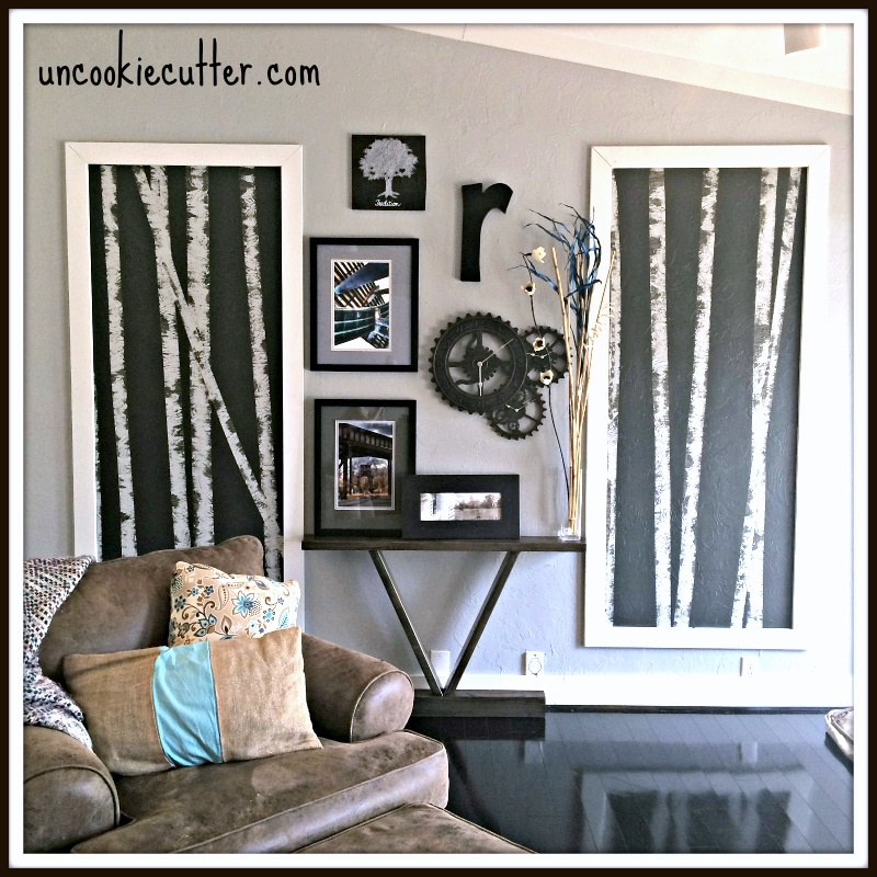DIY Birch Tree Gallery Wall - UncookieCutter.com