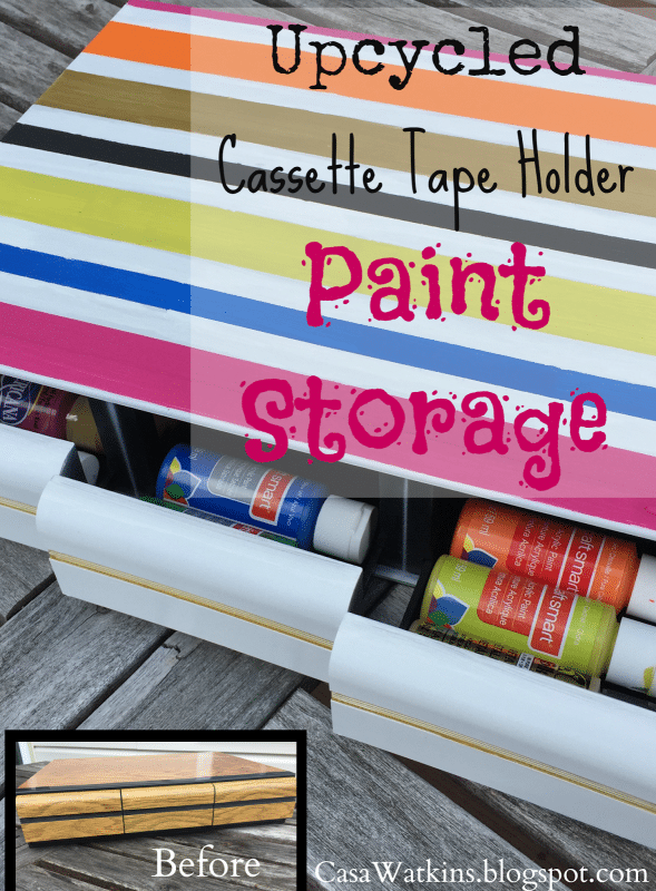 Upcycled Cassette Tape Turned Paint Storage - CasaWatkins.net