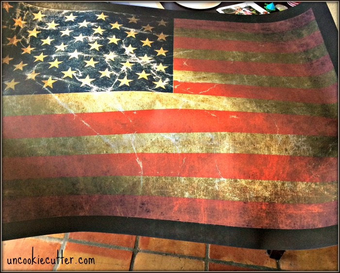 Rustic Americana Wall Art - January Create and Share Challenge sponsored by GraphicStock - UncookieCutter.com