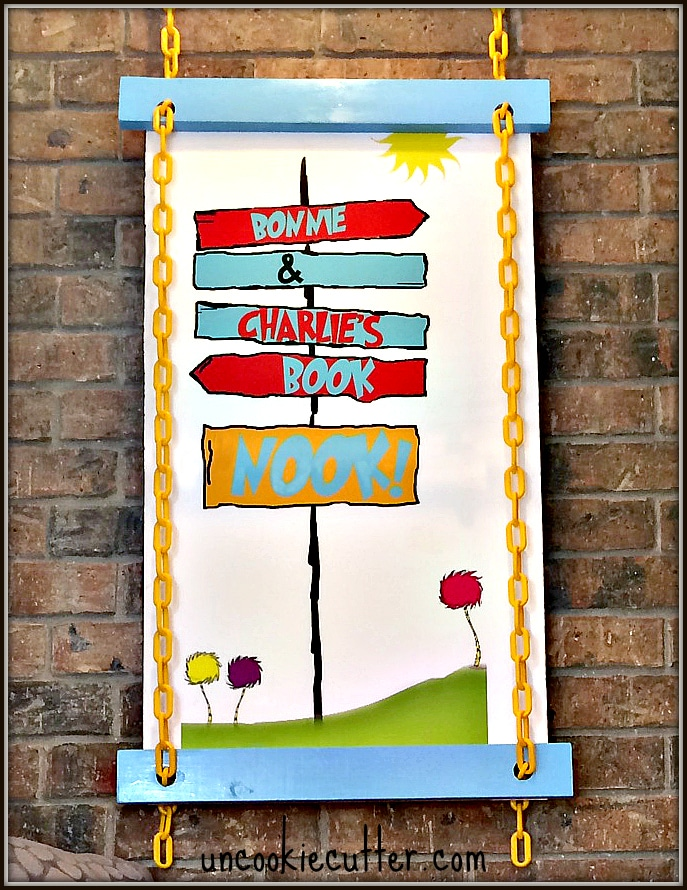 DIY Dr. Suess Wall Art and February Blogger Chain Challenge - Home Depot Gift Challenge - UncookieCutter.com