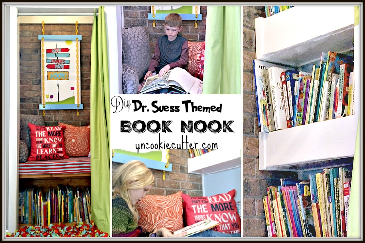 Dr. Suess Themed Book Nook - UncookieCutter.com