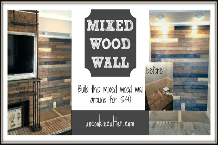 I Created This Mixed Wood Wall With Paneling From Lowes Leftover Stain And