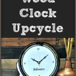 How to make a DIY handmade wooden Restoration Hardware inspired unique rustic tabletop clock. Plus, more crafts ideas from my friends.