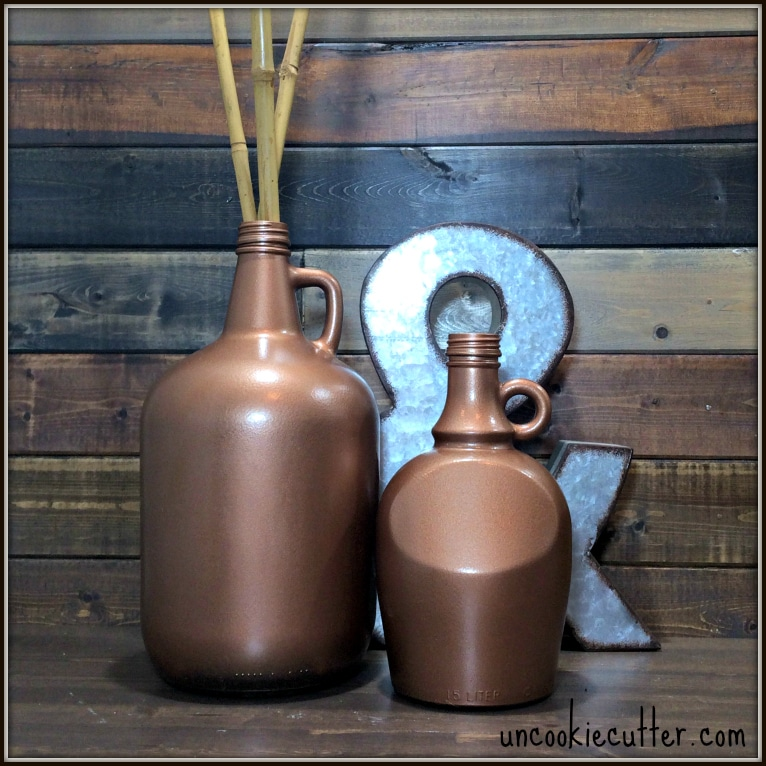 Glass Jugs Upcycle - UncookieCutter.com