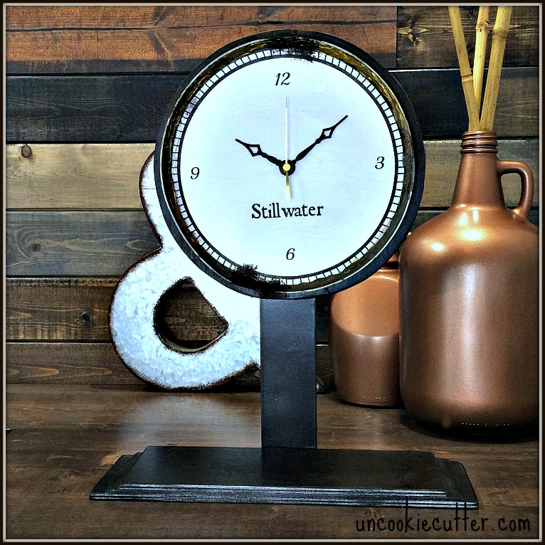 Tabletop Clock - Restoration Hardware Inspired - UncookieCutter.com
