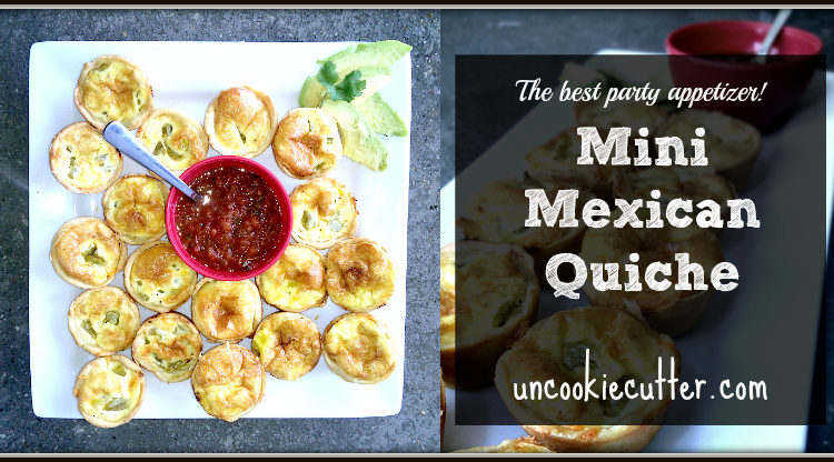 Mini Mexican Quiche - Feature from this weeks You Link It, We Make It link party. This recipes from Farmhouse 40 made the perfect appetizer party food.