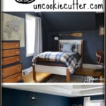Ideas to work a navy color scheme into your bedroom or living room decor.