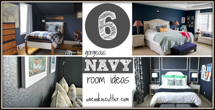 If you are considering a navy room, here are six rooms to get you inspired and help you narrow down your navy options. UncookieCutter.com