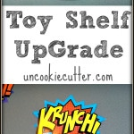 I updated this cheap Target wall toy shelf inspired by the Land of Nod. Perfect for storage and organization for the display of favorite toys! Get full tutorial and more kids makeover ideas!
