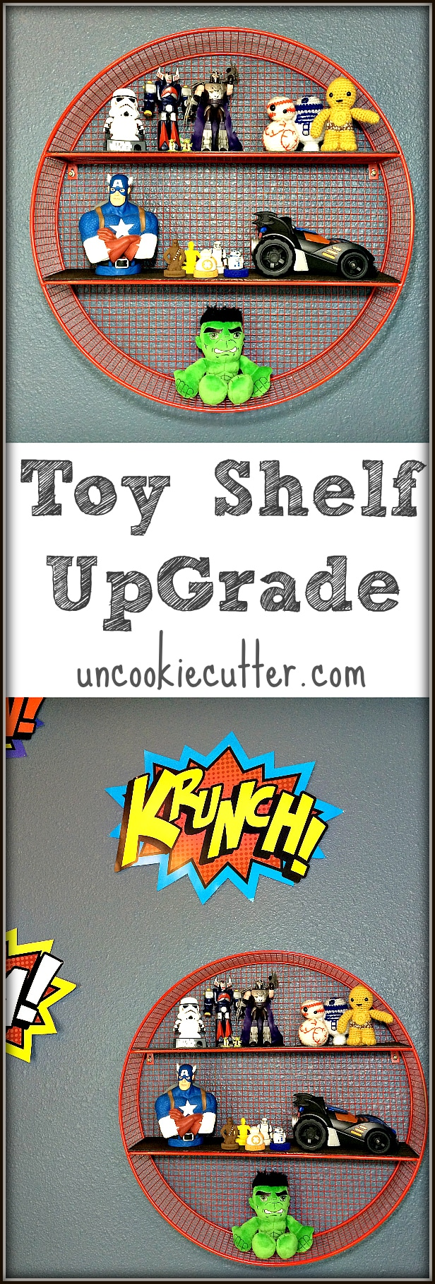 Simple Toy Shelf Upgrade - UncookieCutter.com