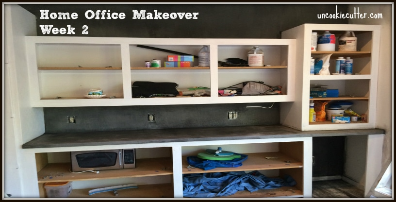 Home Office Makeover - One Room Challenge Week 3 - UncookieCutter.com