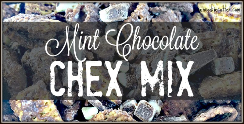 Mint Chocolate Chex Mix - Featured recipe this week from Mom on the Move! The kiddos gobbled it up! UncookieCutter.com