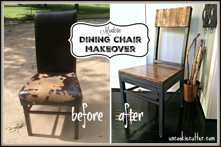 DIY Modern Dining Chair Makeover - UncookieCutter.com