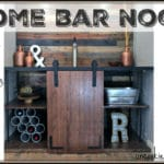 Home Bar Nook DIY
