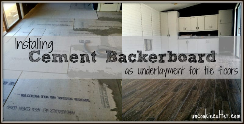 Cement Backerboard - Floor Tile Installation - Uncookie Cutter
