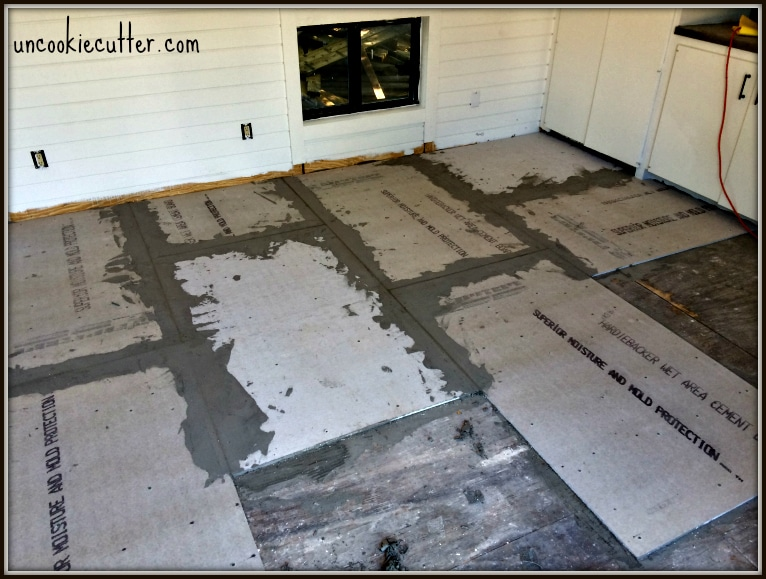 Cement Backerboard Floor Tile Installation Uncookie Cutter - Cement based backer board