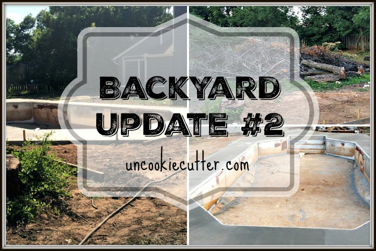 Pool Remodel and Backyard Upgrade - party two - UncookieCutter.com