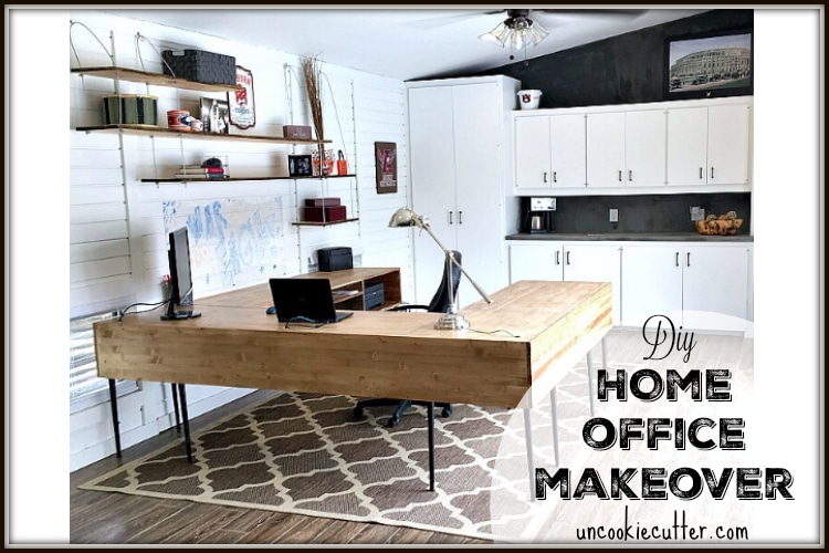 DIY Home Office Makeover - UncookieCutter.com