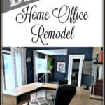 Get Ideas for your home office design on a budget for men or for women who work from home with our home office makeover! Get all the details and tutorials to all the DIY projects here!